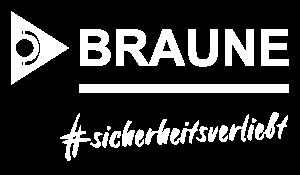 Braune GmbH Logo Slogan #sicherheitsverliebt