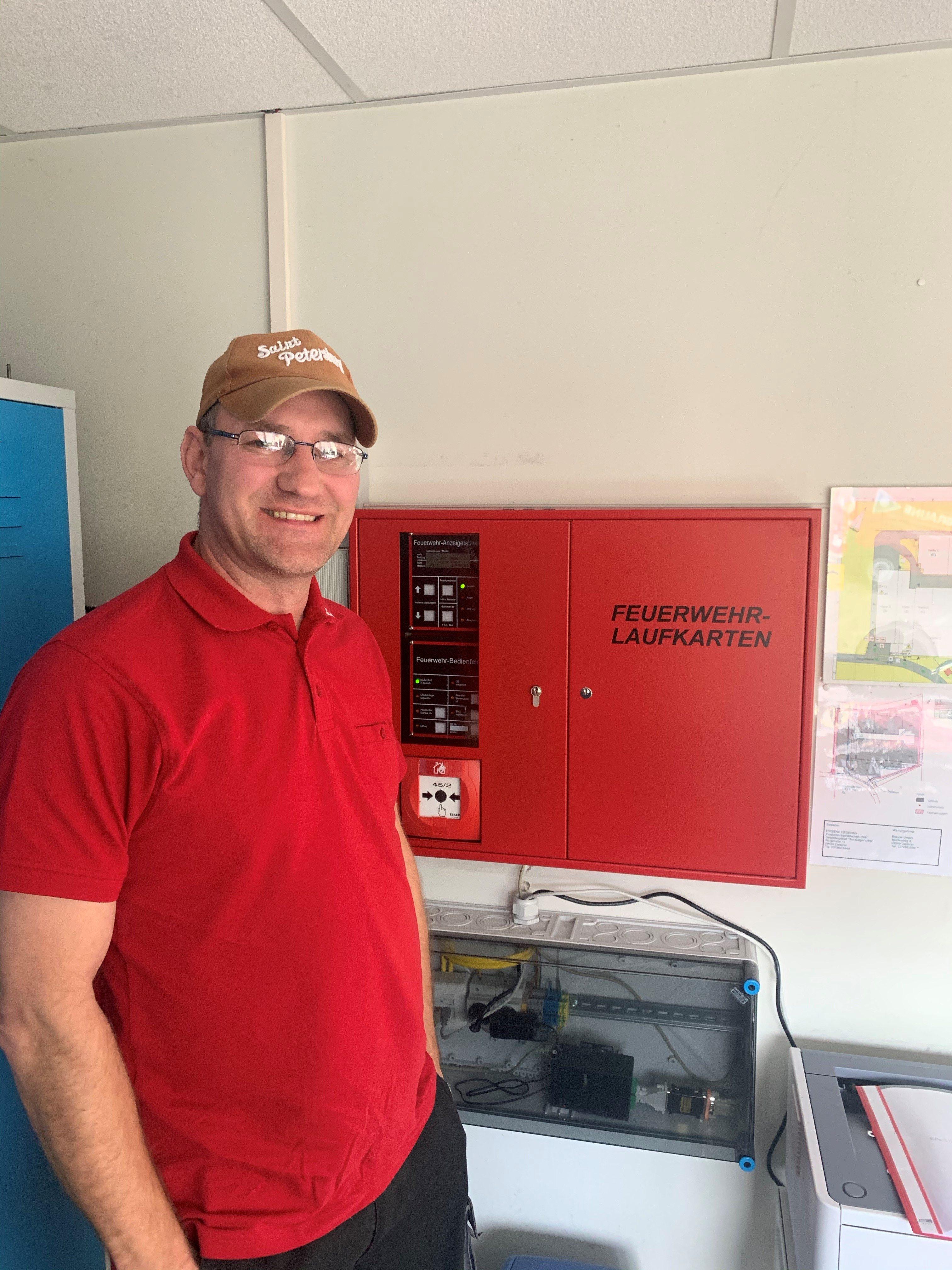 Servicetechniker Robby Krause